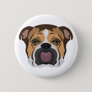 Illustration English Bulldog 2 Inch Round Button