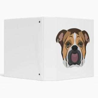 Illustration English Bulldog 3 Ring Binder