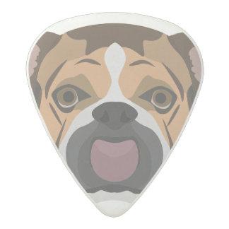 Illustration English Bulldog Acetal Guitar Pick