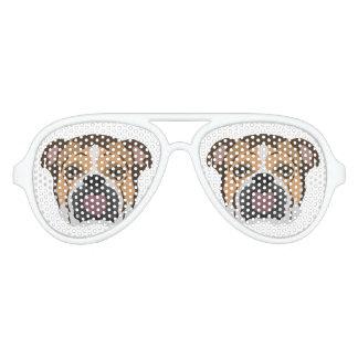Illustration English Bulldog Aviator Sunglasses