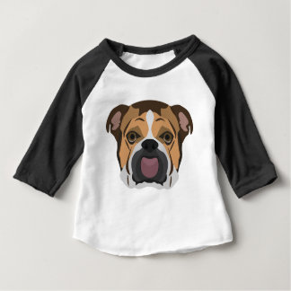 Illustration English Bulldog Baby T-Shirt