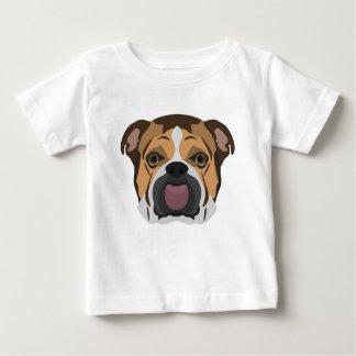 Illustration English Bulldog Baby T-Shirt