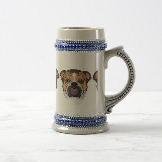 Illustration English Bulldog Beer Stein