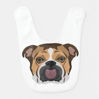 Illustration English Bulldog Bib
