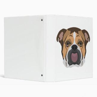 Illustration English Bulldog Binder