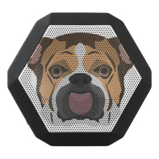 Illustration English Bulldog Black Bluetooth Speaker