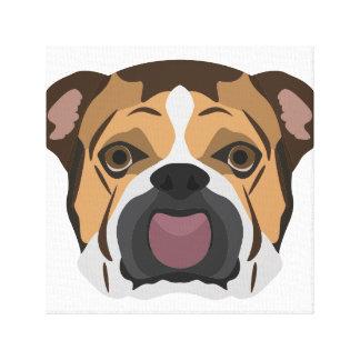 Illustration English Bulldog Canvas Print