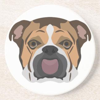 Illustration English Bulldog Coaster