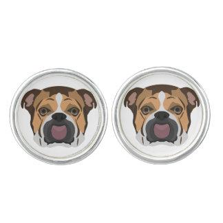 Illustration English Bulldog Cuff Links