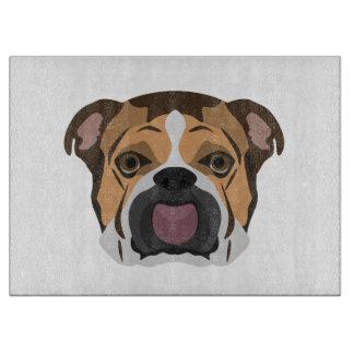 Illustration English Bulldog Cutting Board