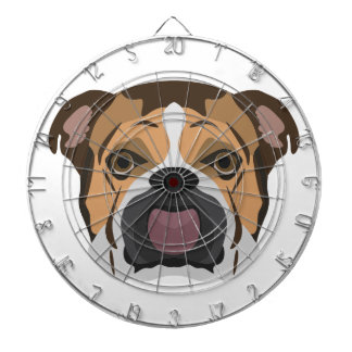 Illustration English Bulldog Dartboard