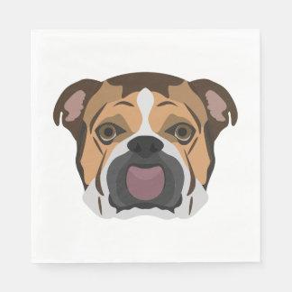 Illustration English Bulldog Disposable Napkin
