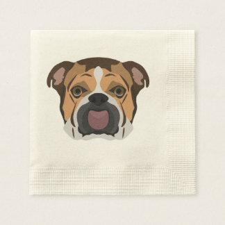 Illustration English Bulldog Disposable Napkins