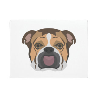 Illustration English Bulldog Doormat