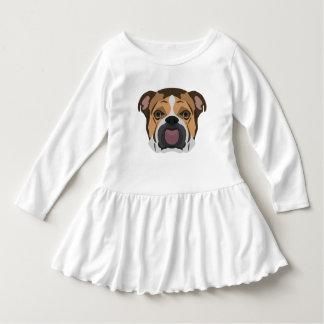 Illustration English Bulldog Dress