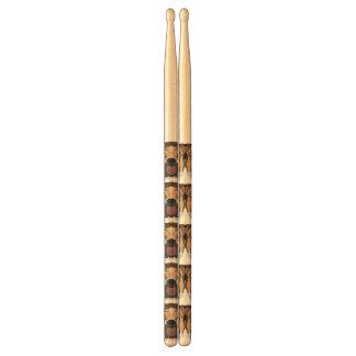 Illustration English Bulldog Drumsticks