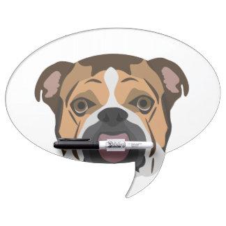 Illustration English Bulldog Dry Erase Board