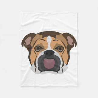 Illustration English Bulldog Fleece Blanket