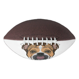 Illustration English Bulldog Football