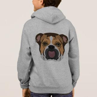 Illustration English Bulldog Hoodie