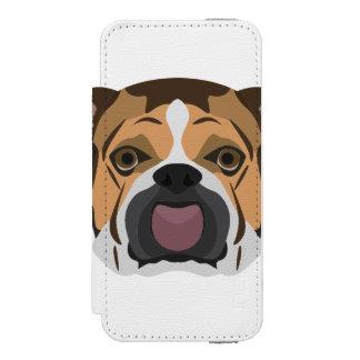 Illustration English Bulldog Incipio Watson™ iPhone 5 Wallet Case