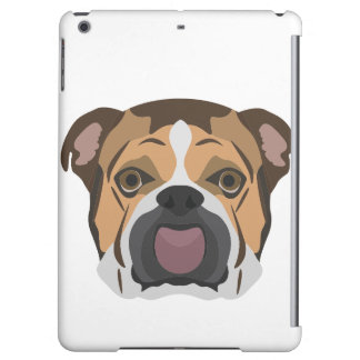 Illustration English Bulldog iPad Air Cover