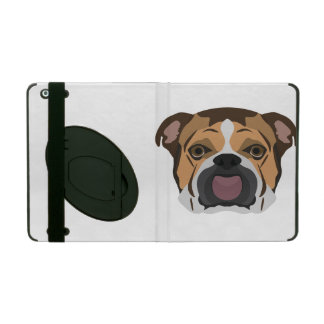 Illustration English Bulldog iPad Case