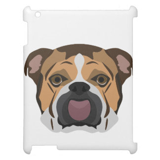 Illustration English Bulldog iPad Cover