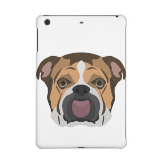 Illustration English Bulldog iPad Mini Cover
