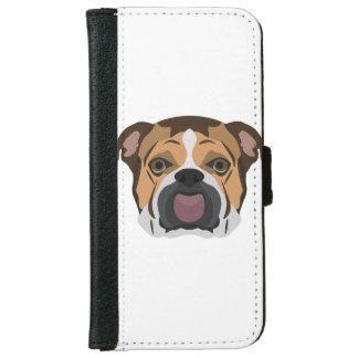 Illustration English Bulldog iPhone 6 Wallet Case