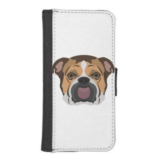 Illustration English Bulldog iPhone SE/5/5s Wallet Case