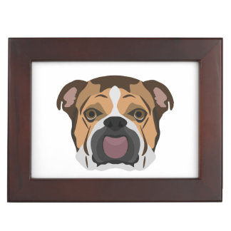 Illustration English Bulldog Keepsake Box