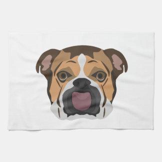Illustration English Bulldog Kitchen Towel