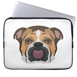 Illustration English Bulldog Laptop Sleeve