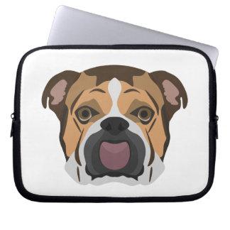 Illustration English Bulldog Laptop Sleeve