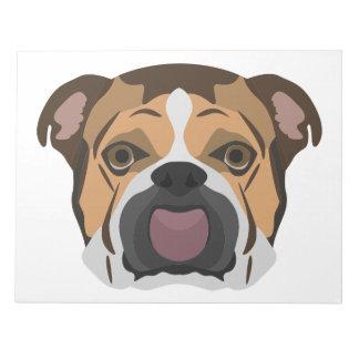 Illustration English Bulldog Notepad