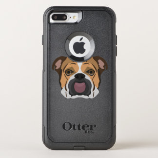 Illustration English Bulldog OtterBox Commuter iPhone 8 Plus/7 Plus Case