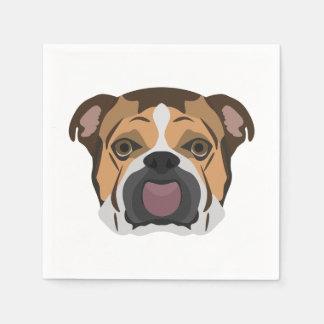 Illustration English Bulldog Paper Napkins