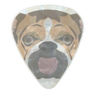 Illustration English Bulldog Pearl Celluloid Guitar Pick