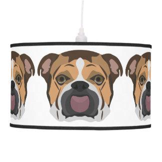 Illustration English Bulldog Pendant Lamp
