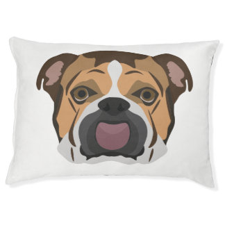 Illustration English Bulldog Pet Bed
