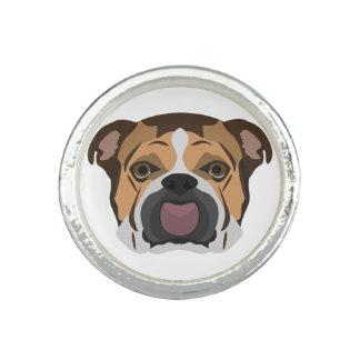 Illustration English Bulldog Photo Rings