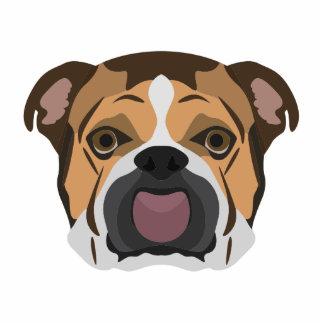Illustration English Bulldog Photo Sculpture Ornament