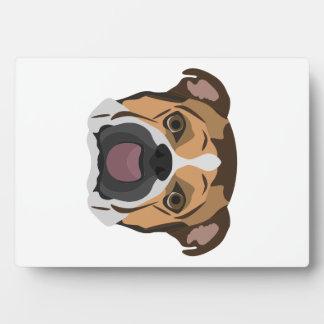 Illustration English Bulldog Plaque