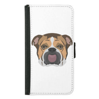 Illustration English Bulldog Samsung Galaxy S5 Wallet Case