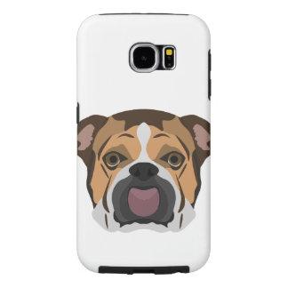 Illustration English Bulldog Samsung Galaxy S6 Cases