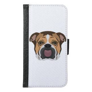 Illustration English Bulldog Samsung Galaxy S6 Wallet Case