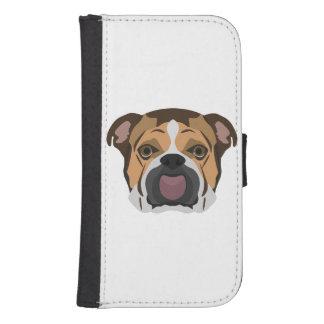 Illustration English Bulldog Samsung S4 Wallet Case