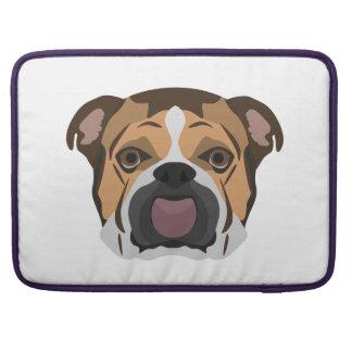 Illustration English Bulldog Sleeve For MacBook Pro