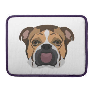 Illustration English Bulldog Sleeve For MacBooks